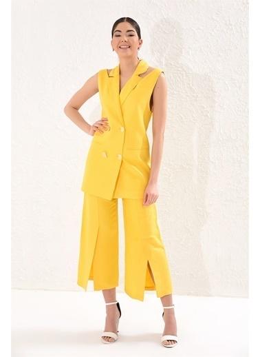 Setre Takım Elbise Sarı